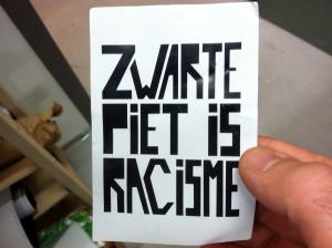 """Black Pete is racism"" movement"