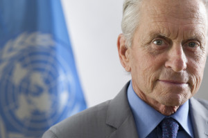 UN Messenger of Peace, Michael Douglas. Photo by United Nations Photo on Flickr Creative Commons