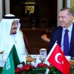 President Erdogan and Saudi King Salman at this Fall's G20 Summit in Antalya.