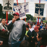 """The Standing Rock Sioux chairman, David Archambault II, spoke to supporters at a rally after learning that the United States government had ordered a pause in construction on part of the pipeline.""   Credit: Credit Alyssa Schukar for The New York Times"