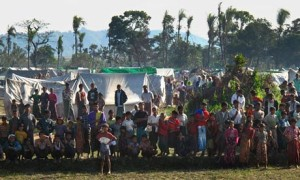 Rohingya refugees at the Pauktaw camp in west Burma. (Kate Hodal for the Guardian)