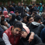 Syrian refugees waiting to be registered In Berlin, Germany (2015)