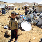 A Syrian refugee child at the border town of Arsal, in the eastern Bekaa Valley, Lebanon
