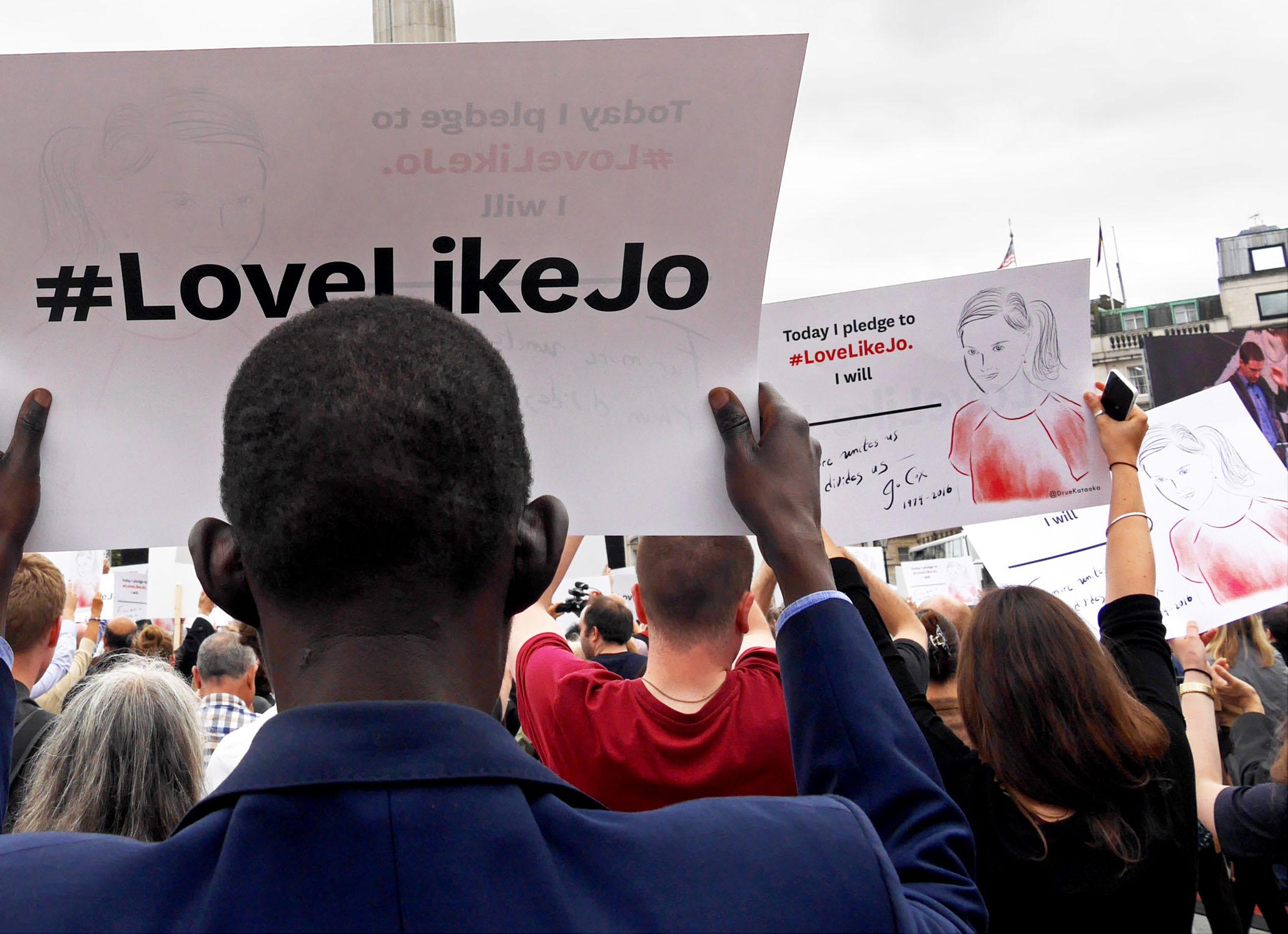 Remembering Jo Cox - Trafalgar Square https://flic.kr/p/JniaBf