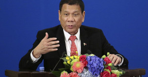 Duterte speaking in Beijing on October 20, announcing the separation of the United States and the Philippines. https://flic.kr/p/MtTrf8