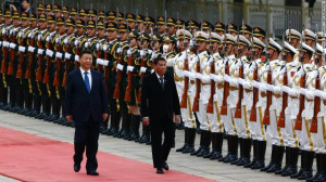 President Xi Jinping receives President Rodrigo Détente with full military honors on upon his arrival in Beijing. https://flic.kr/p/NpSDu8