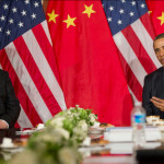US President Barack Obama and Chinese President Xi Jinping in 2014 in The Hague