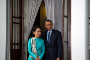 President Barack Obama meets with Chairperson of the National League for Democracy Aung San Suu Kyi, 2014 https://flic.kr/p/q47mTH