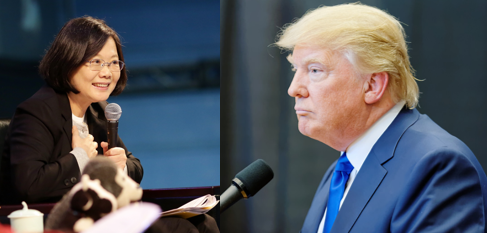 Taiwanese President Tsai Ing-wen (left), and American President-elect Donald Trump (right) spoke in a highly unprecedented phone call early on December 2, 2016.