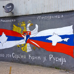 Translation from Russian: Kosovska Mitrovica: Kosovo is Serbian; Crimea is Russian. Mitrovica, Kosovo. https://flic.kr/p/nMsACR