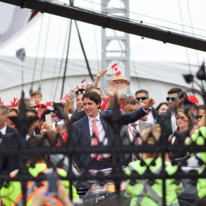 PM Justin Trudeau waves to supporters. Although there has been parliamentary demand for the suspension of the Third Safe Country Agreement, PM Trudeau and the rest of the Liberal Party have defended the bill and refused to suspend or amend it. Source: https://flic.kr/p/JFz7C9