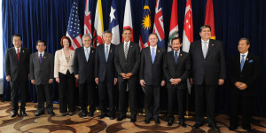 President Obama stands with other leaders of TPP member states. http://bit.ly/2kN6fcf