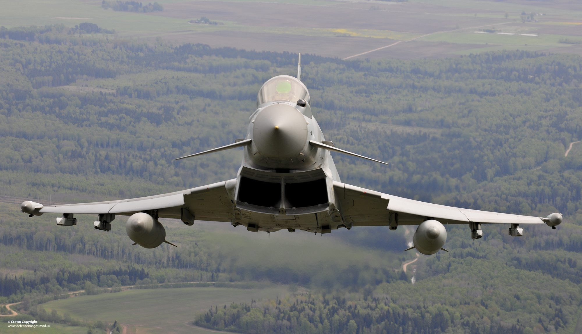 A British RAF aircraft over Lithuania, in the context of the NATO Baltic Air Policing (BAP) mission. NATO has increasingly engaged in Baltic security deployments since the 2014 Russian annexation of Crimea. https://flic.kr/p/nTnCME