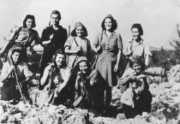 Group of female Yugoslav Partisans in Mount Dinara (near the border of present-day Bosnia-Herzegovina and Croatia), July 1943.  Source: http://znaci.net/damjan/fotogalerija.php?slika_po_strani=10&stranica=68