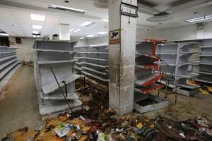 Empty grocery store in Venezuela. https://goo.gl/AVOP8Q